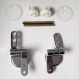 Chrome Wooden and Plastic Toilet Seat Hinges - 03062190